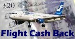 Get cash back on flights when you buy through us!
